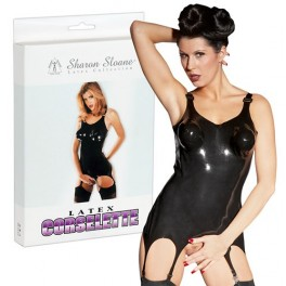 Latex suspender corsage S