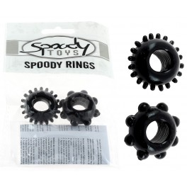 Pack 2 cockrings Spoody Pleasure noir